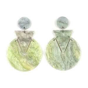 Paparazzi Accessories Jewelry - Head Under WATERCOLORS Acrylic Earrings